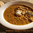 Butternut Squash and Wild Rice Soup