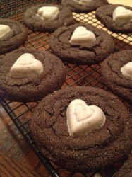 Valentine Chocolate Crinkle Cookies