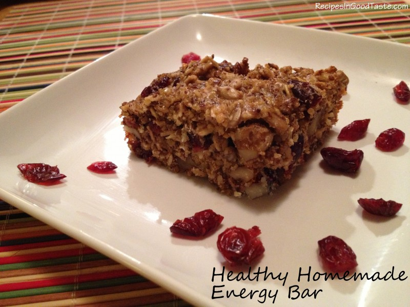 Healthy Homemade Energy Bar