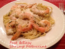 Fast & Easy Shrimp Fettuccine