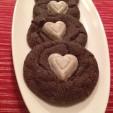 Valentine Chocolate Crinkle Kiss Cookies