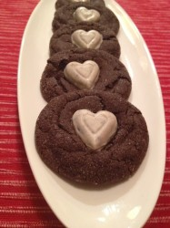Valentine Chocolate Crinkle Kiss Cookies
