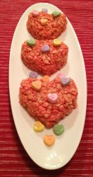 Valentine Crispie Treats