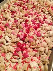 Valentine Peanut Butter Chex Mix