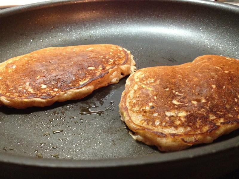 Apple Pecan Pancakes